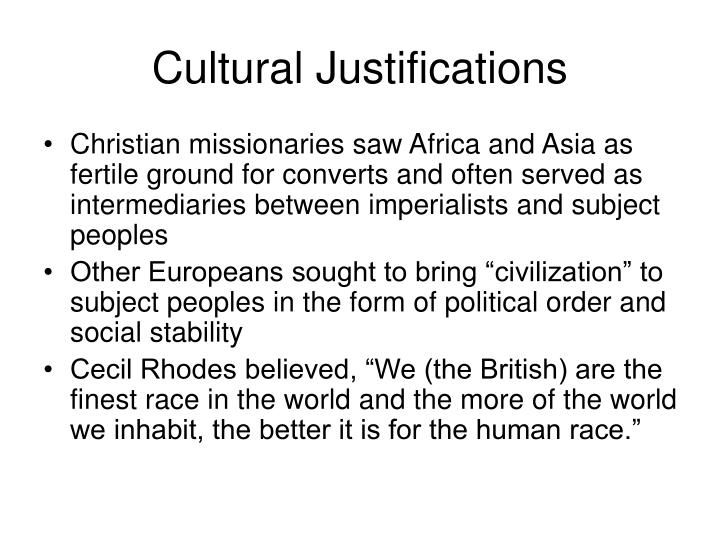 Cultural Justifications