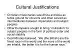 cultural justifications