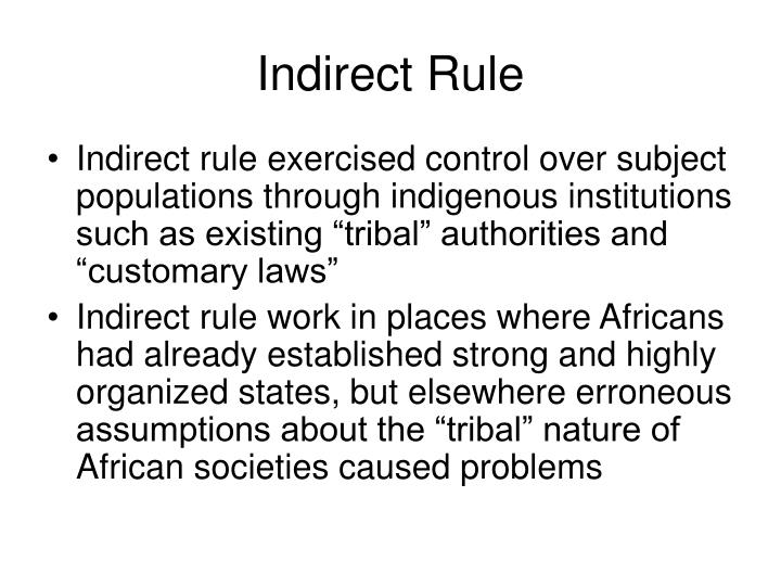 Indirect Rule