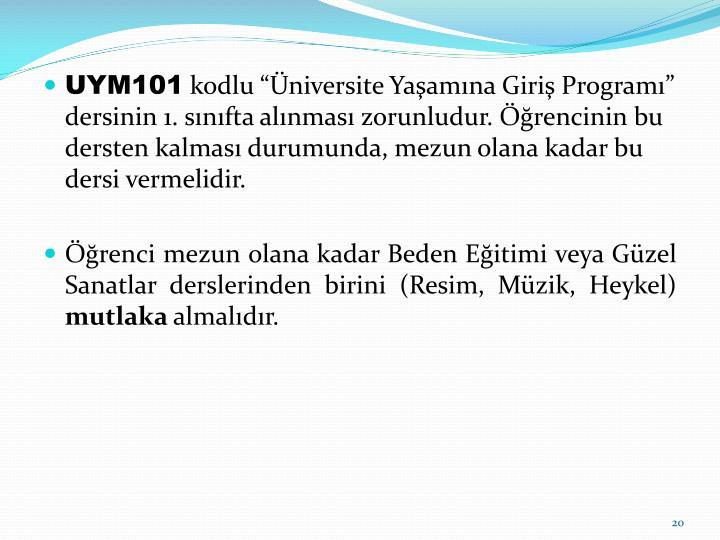 UYM101