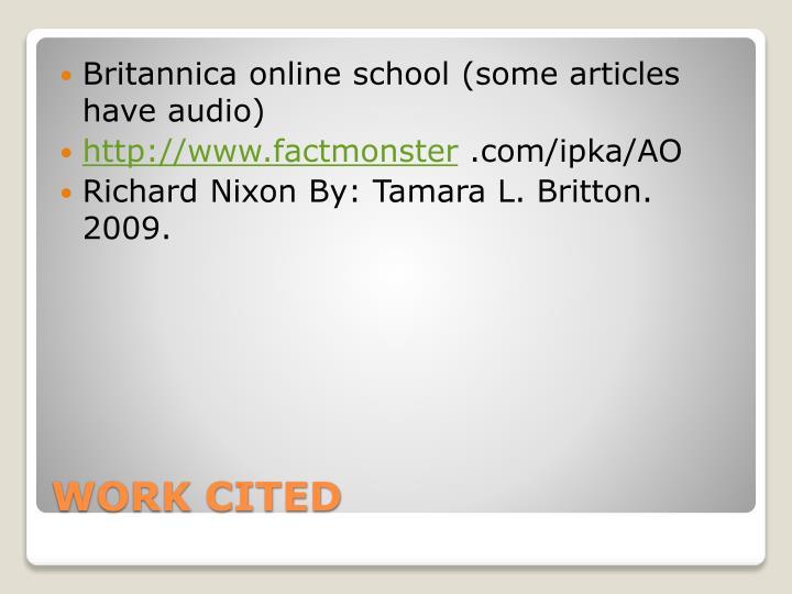Britannica online school (some articles have audio)