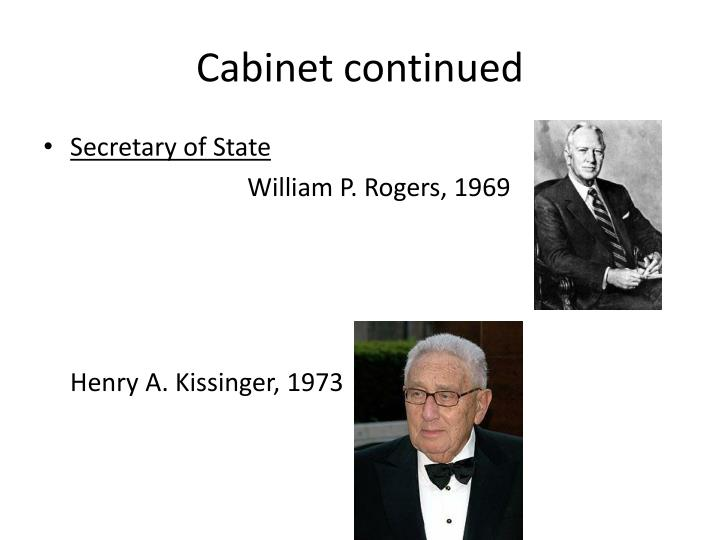 Cabinet continued