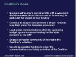 coalition s goals