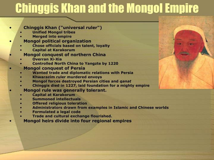 Chinggis Khan and the Mongol Empire