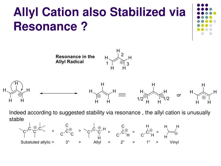 Allyl Cation also Stabilized via Resonance ?