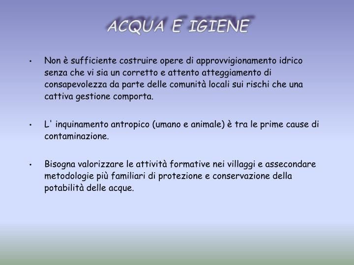 ACQUA E IGIENE