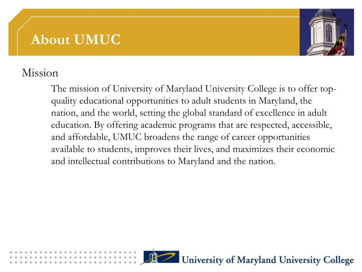 About umuc
