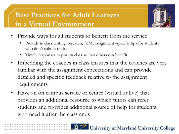Best Practices for Adult Learners