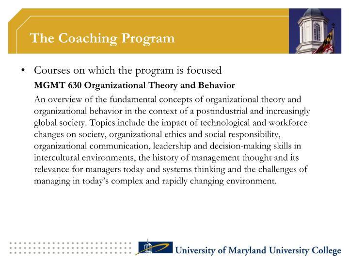 The Coaching Program