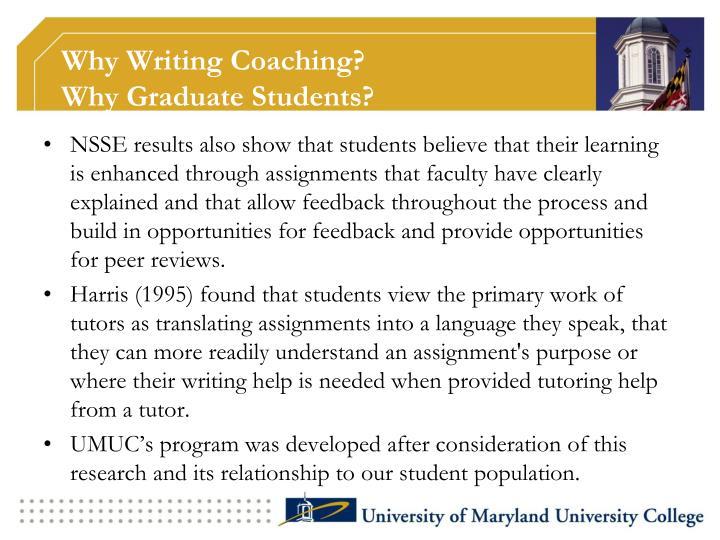 Why Writing Coaching?