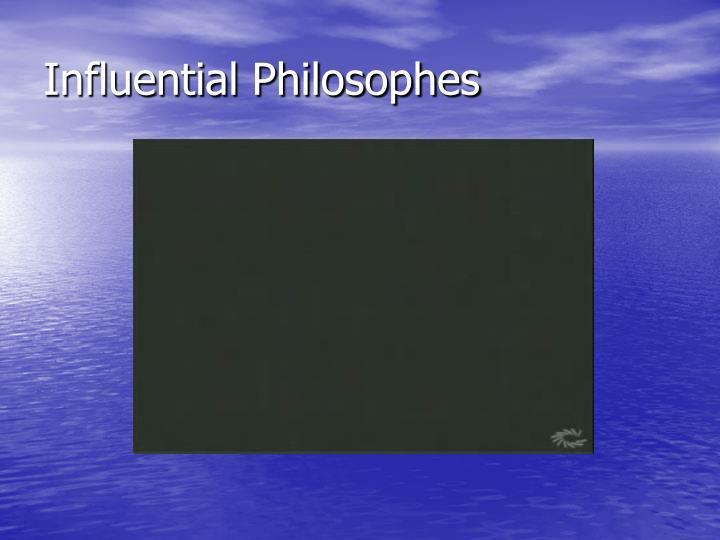 Influential Philosophes