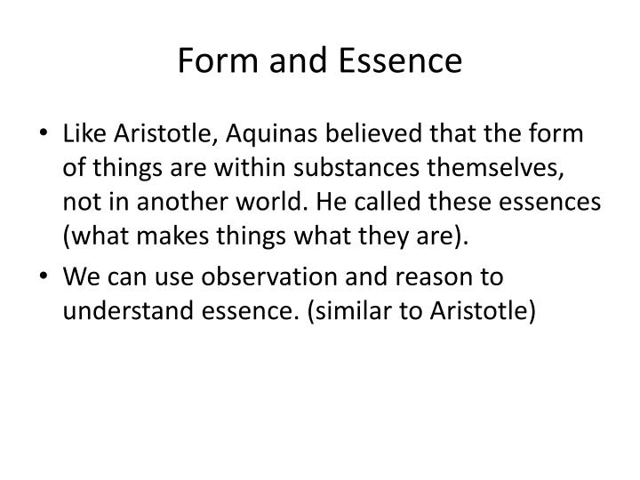 Form and Essence