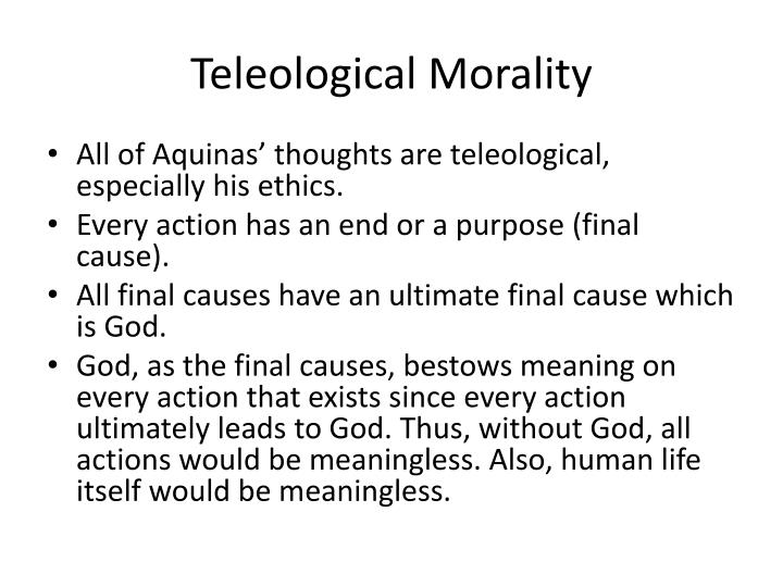 Teleological Morality
