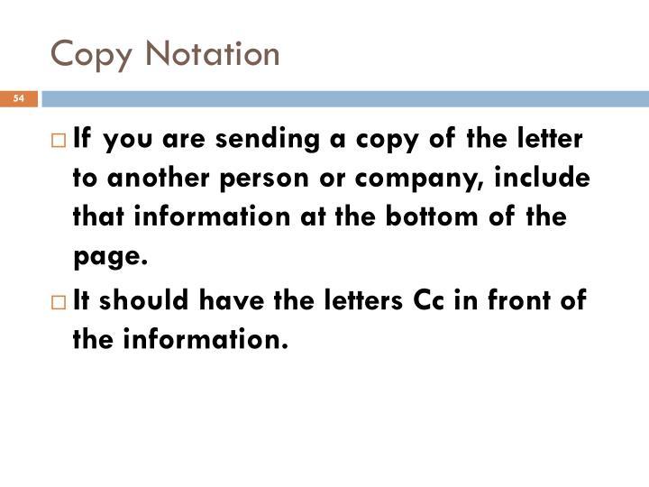 Copy Notation