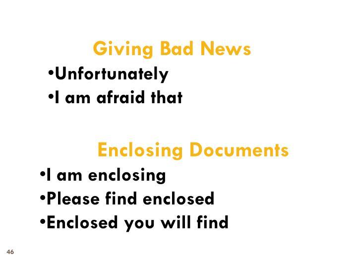 Giving Bad News