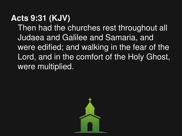 Acts 9:31 (KJV)