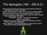 the apologists 180 250 a d