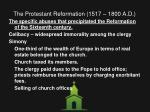 the protestant reformation 1517 1800 a d