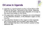 oil area in uganda