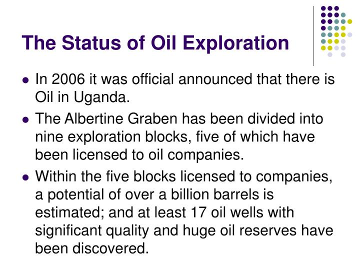 The Status of Oil Exploration