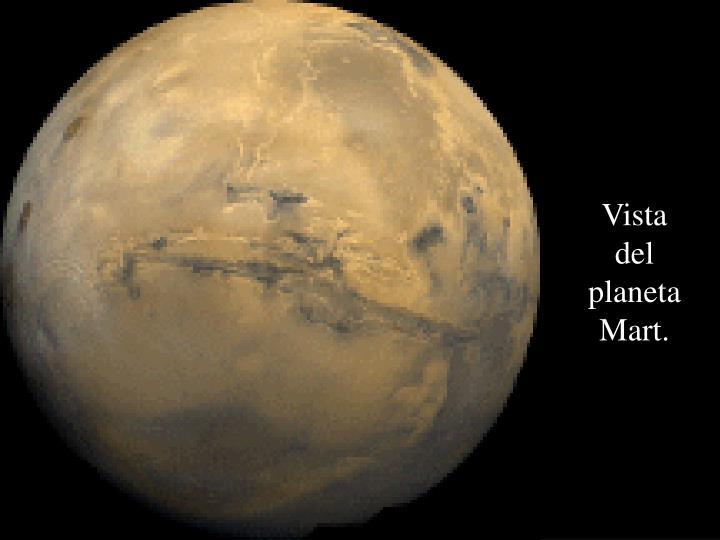 Vista del planeta Mart.