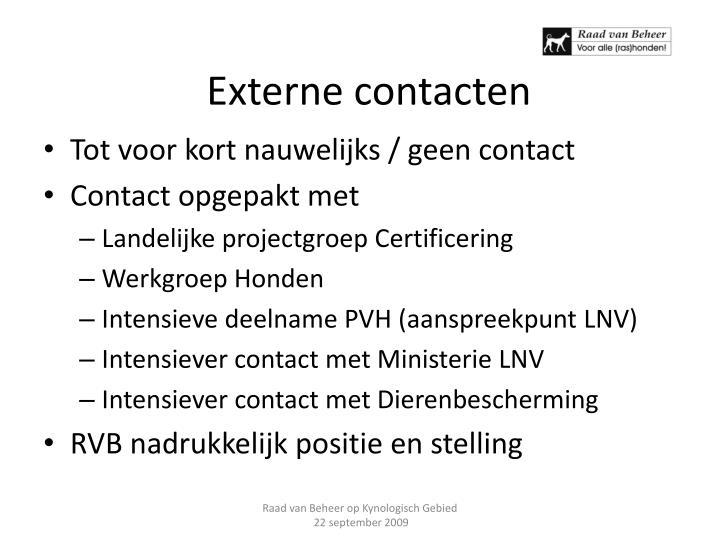Externe contacten