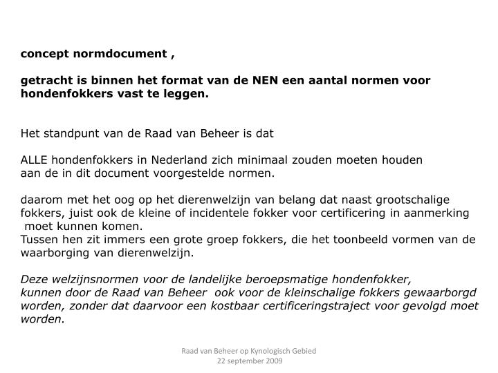 concept normdocument ,