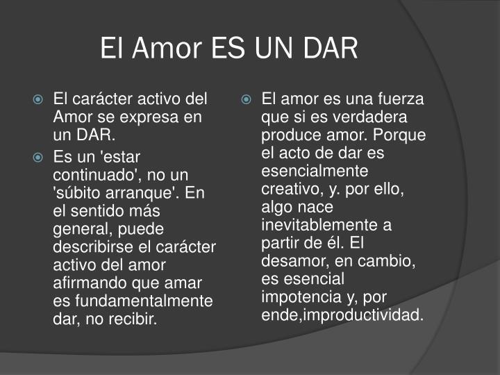 El Amor ES UN DAR