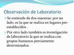 observaci n de laboratorio