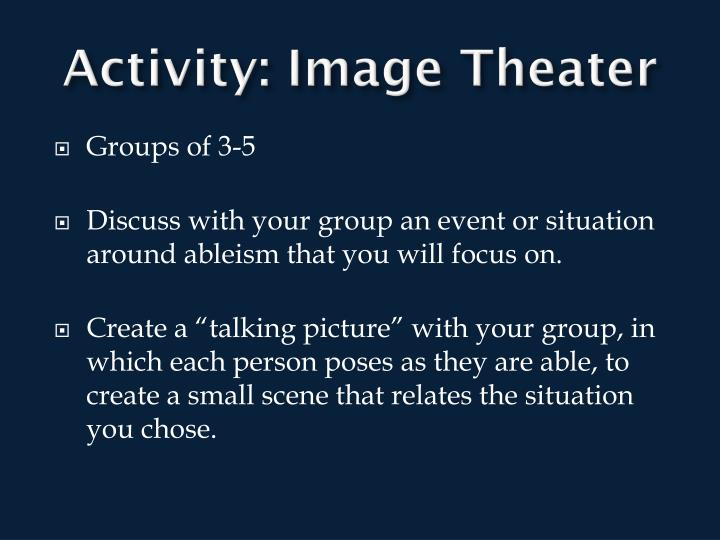 Activity: Image Theater