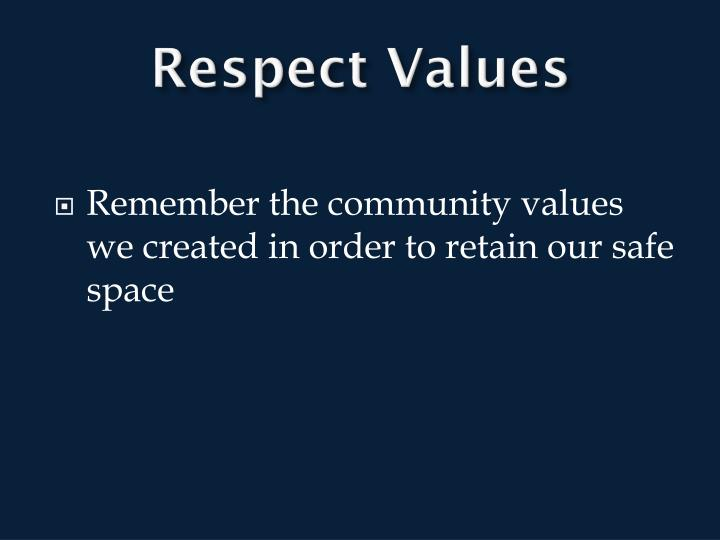 Respect Values