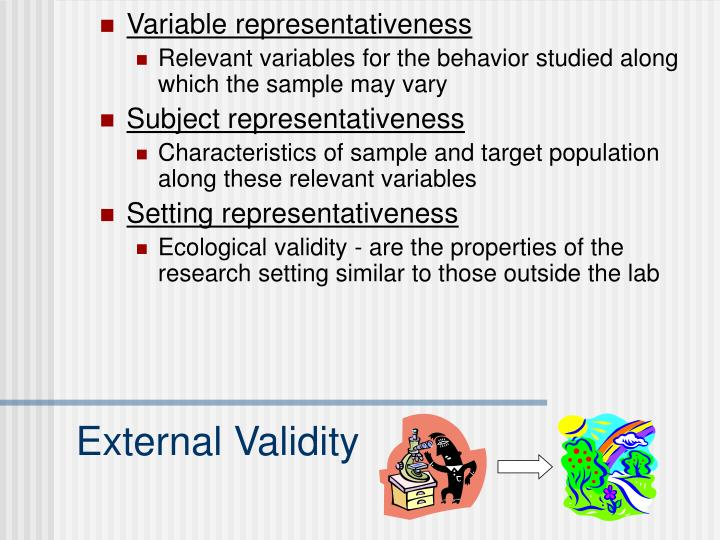 Variable representativeness
