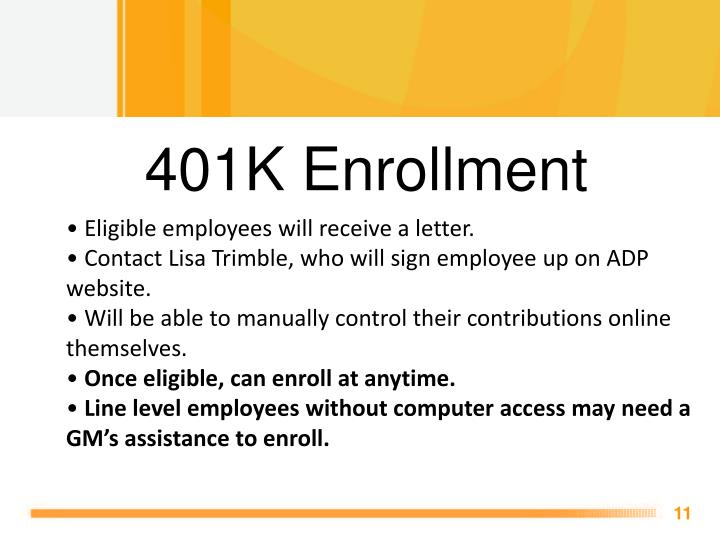 401K Enrollment