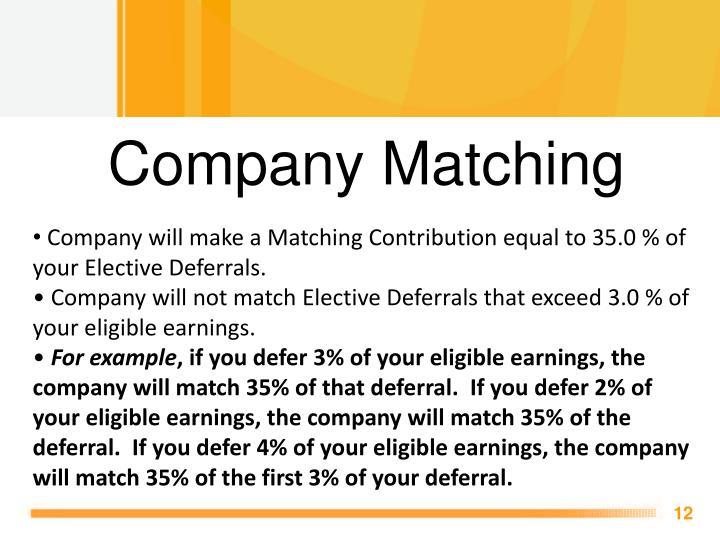 Company Matching