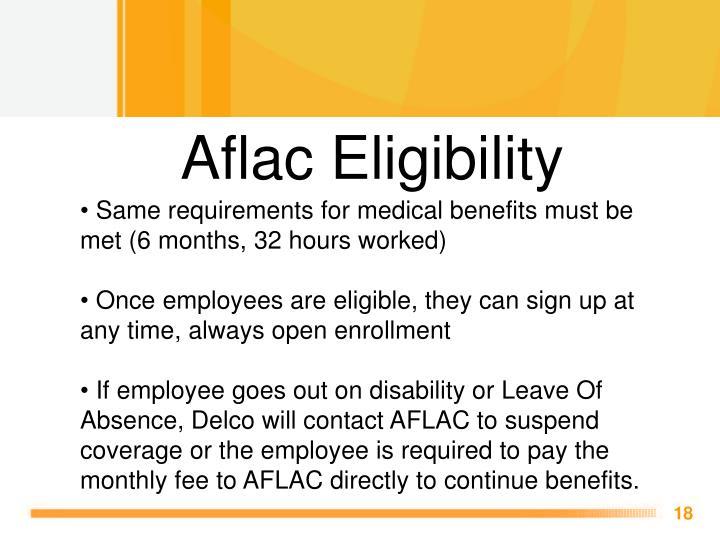 Aflac Eligibility