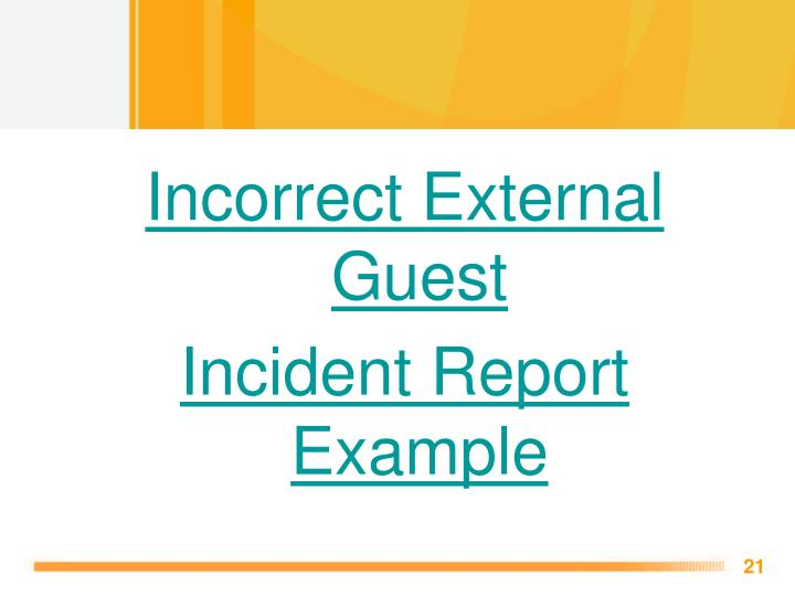 Incorrect External Guest