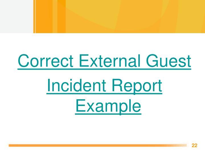 Correct External Guest