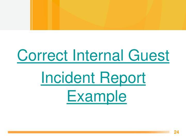 Correct Internal Guest