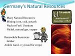 germany s natural resources