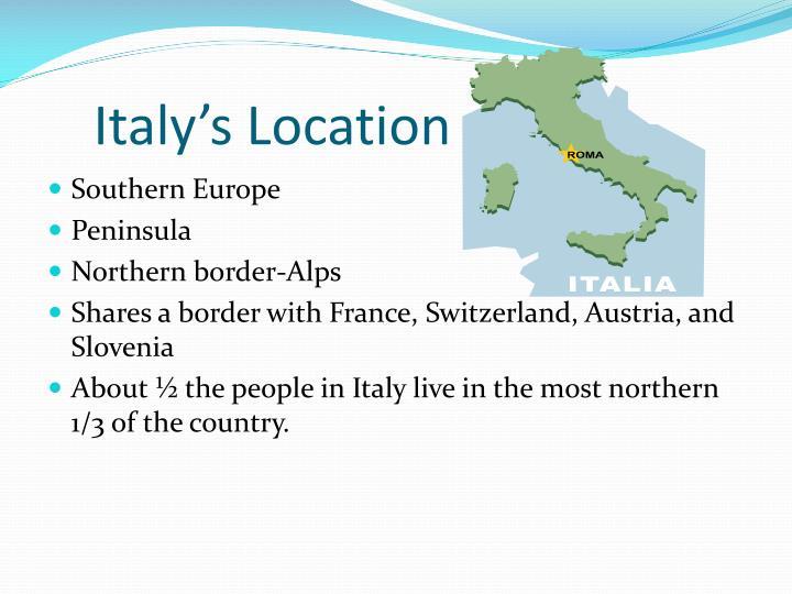 Italy's Location