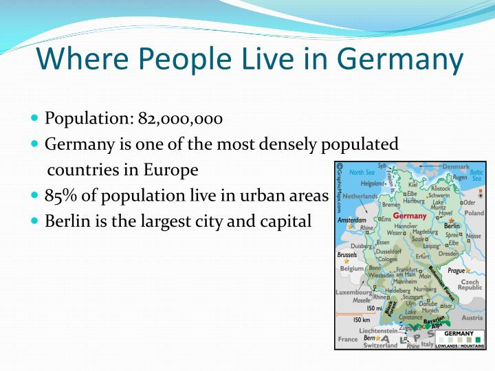 Where People Live in Germany