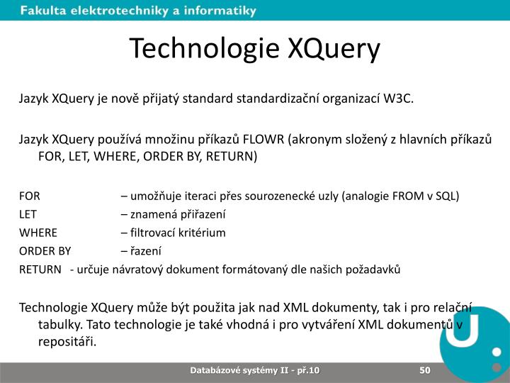 Technologie XQuery