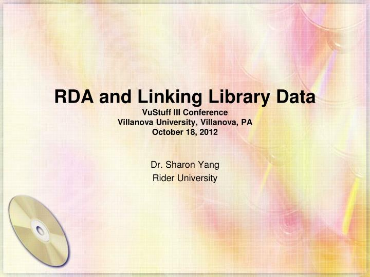 RDA and Linking Library Data