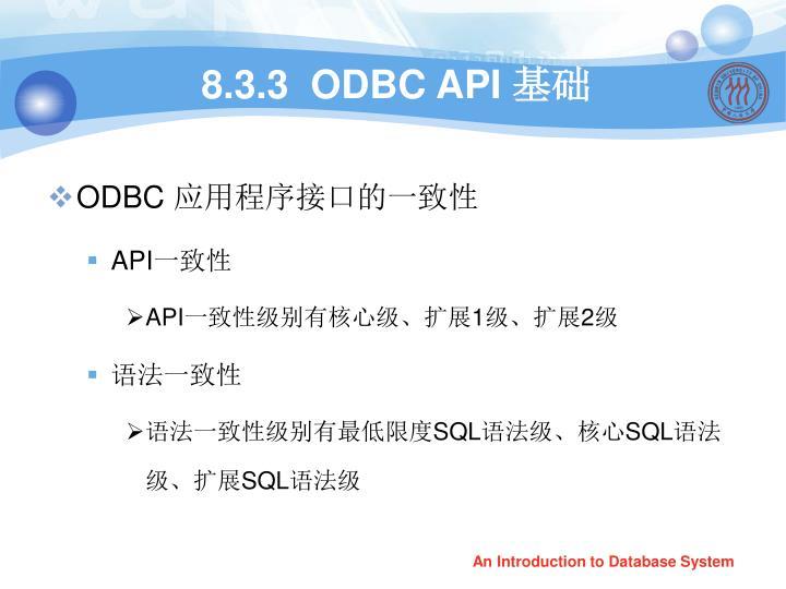 8.3.3  ODBC API