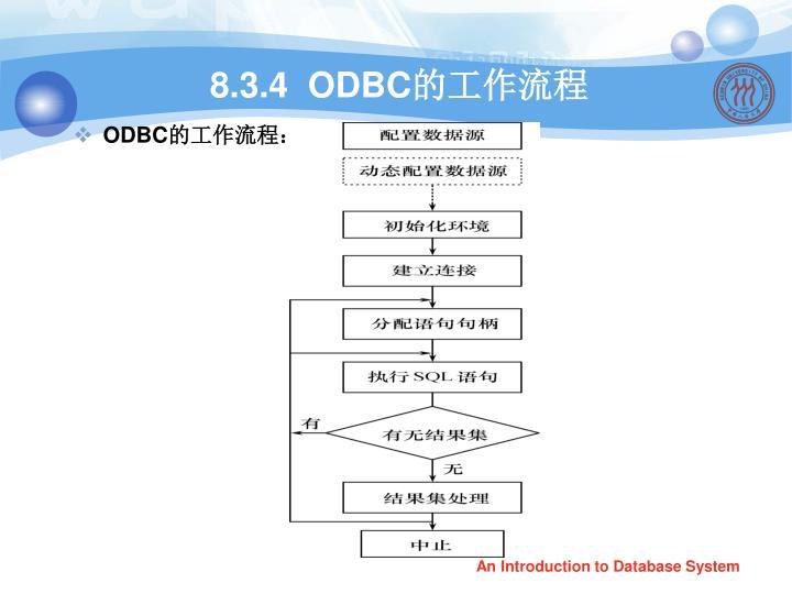 8.3.4  ODBC