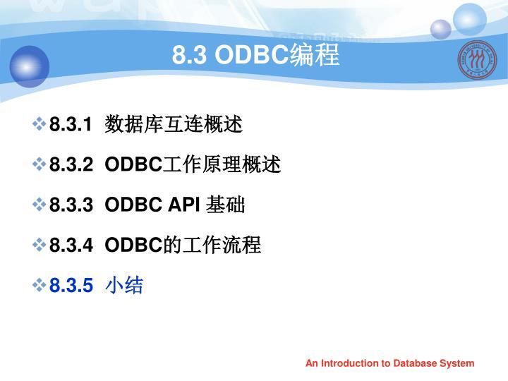 8.3 ODBC