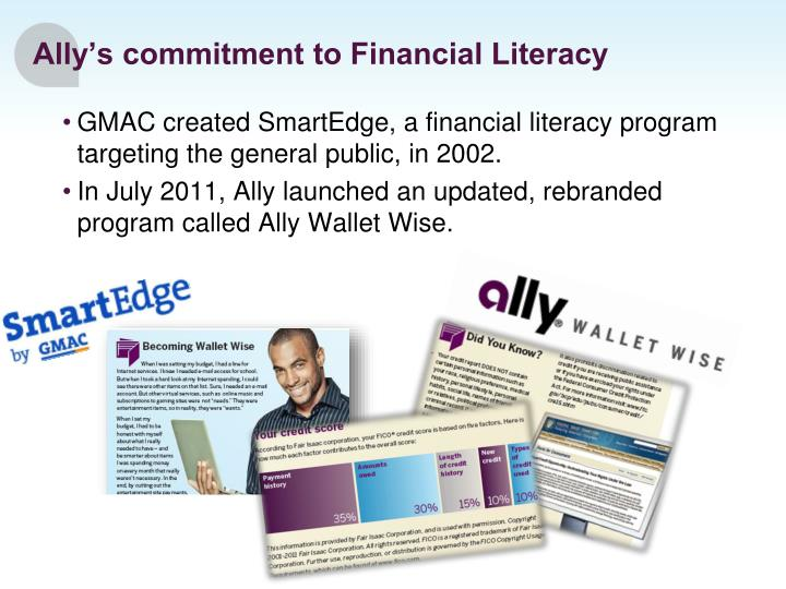 Ally's commitment to Financial Literacy