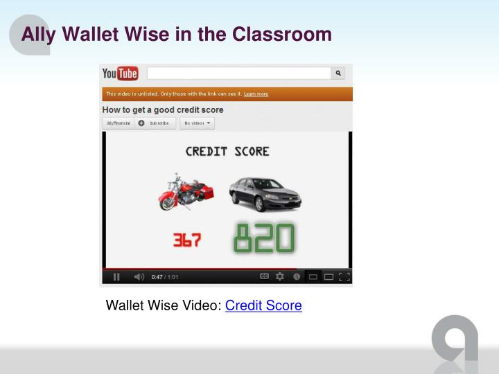 Ally Wallet Wise in the Classroom
