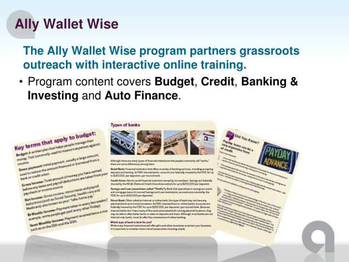 Ally Wallet Wise