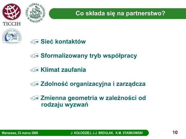 Co składa się na partnerstwo?